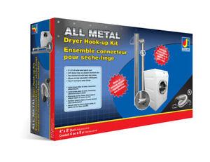 Dundas Jafine MFX48ULMK 4-in All Metal Dryer Hook Up Kit