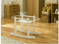 Kinder valley Little gem moses basket rocking stand. Brand new 3 colours in stock.