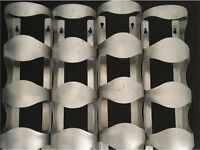 Stainless steel wine racks x 4