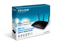 new TP Link ac 1750 adsl 2+ modem/router dual band gigabit