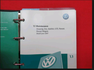 WANTED - 2007 Volkwagen Rabbit Owners Manual