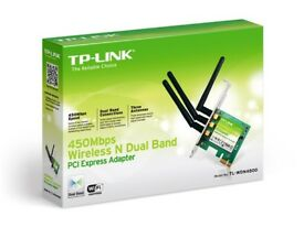 TP-LINK TL-WDN4800 N900 Dual Band Wireless PCI Express Adapter with Three Antennas