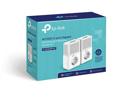 TP-LINK TL-PA7020P KIT V.2 Gigabit Powerline Netzwerk Adapter Steckdose HomePlug