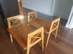 Two Mid Century Modern Side Tables- great value!!!