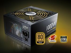 Coolermaster Silent Pro Gold 1000w power supply alimentation