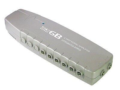 6-Way Digital TV Sky Aerial Signal Booster Amplifier Bypass