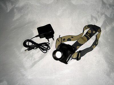 Stirnlampe Lauflampe Taschenlampe Kopflampe super hell 15 Watt Cree LED Zoom NEU