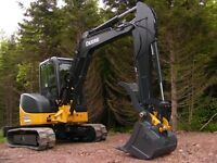 Mini Excavator / Backhoe for hire Calgary Cochrane Airdrie
