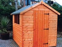 Bramley Apex Tongue & Groove Garden Shed All Sizes From £340 Inc Delivery & Erection 0161 962 9127