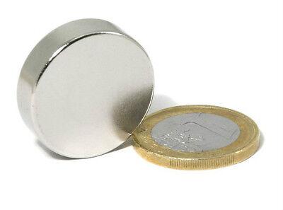 1 Pezzo Magnete al NEODIMIO Disco Ø 30x7 mm.  N45 Kg.30 CALAMITA MAGNETI Potente