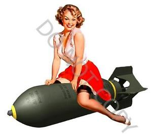 WW2-BOMBSHELL-BOMBER-PINUP-GIRLWATERSLIDE-Decal-C45