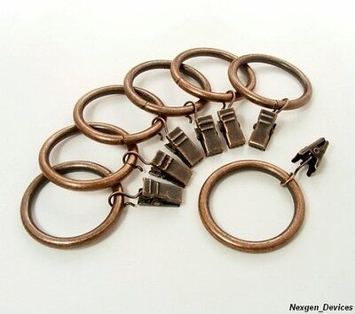 Crbz14 Anello Drapery Clip Rings - Antique Bronze - 14 Pcs (new)