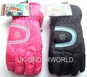 Womens Pink Ski Gloves