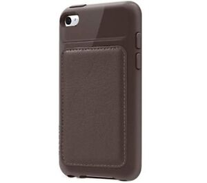 NEW Belkin iPod Touch 4th Generation 4G Grip Edge Leather Case/Cover/Skin Brown