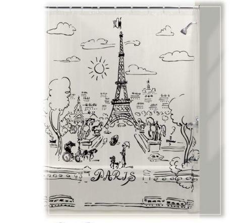 Paris Shower Curtain   eBay