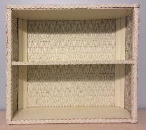 Wicker Wall Shelf Bathroom: Vintage Wicker Shelf: Home & Garden