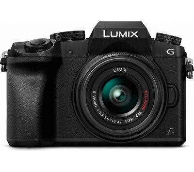 PANASONIC Lumix DMC-G7EB-K Mirrorless Camera with 14-42 mm f/3.5-5.6 Lens - Curr