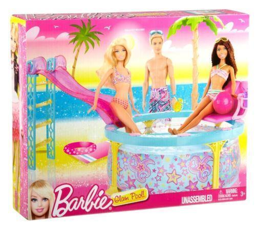 Barbie dream pool ebay for Barbie doll house with swimming pool