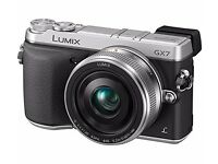 Panasonic GX7 Compact System Digital Camera - Silver (14-42mm Lens, 16MP)