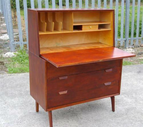 vintage writing bureau furniture ebay. Black Bedroom Furniture Sets. Home Design Ideas