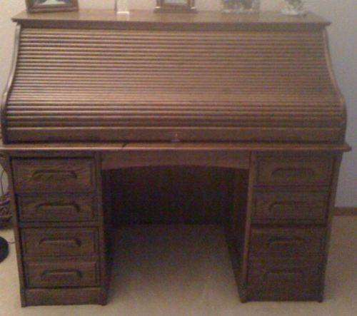 Used Roll Top Desk   eBay