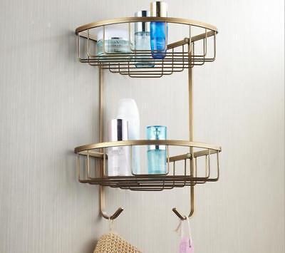 Antique Double Shower Caddy Shelves Storage Corner Rack Holder Organizer Basket for sale  Shipping to Canada
