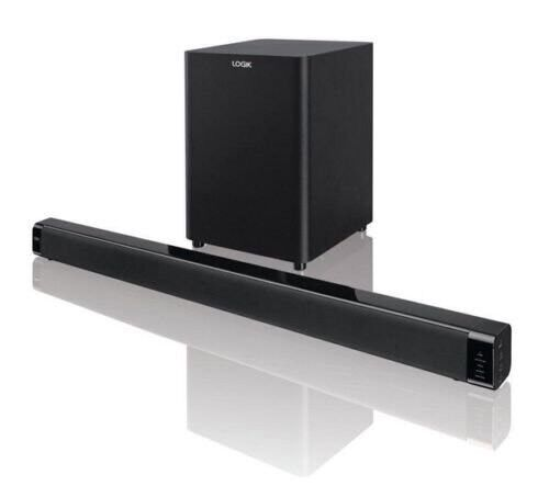 Logik l32swlb 14 Sound Bar With Wireless Subwoofer 120 Watt Bluetooth Aux MP3in Wootton, NorthamptonshireGumtree - System was bought new , used for a few weeks only and then packed up. Comes with remote control and all accessories and manualWorks excellently and no scratch or damage on it. Feel free to Ask any questions