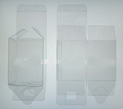 100 PVC Plastic Acetate Bomboniere favor clear wedding gift 5cm square cube box