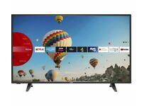 "LOGIK L65UE20 65"" Inch Smart 4K LED TV Ultra HD HDR HDMI Freeview USB - Black"