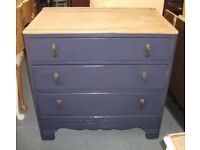 Shabby chic Vintage Oak Chest Of Drawers.