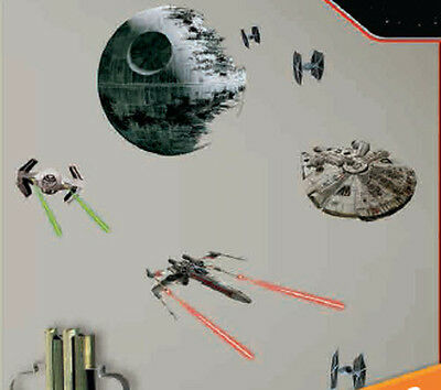 RoomMates RMK3012SCS Star Wars EP VII Spaceships P&S Wall De