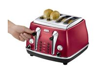 DELONGHI Icona Micalite 4-Slice Toaster - Red