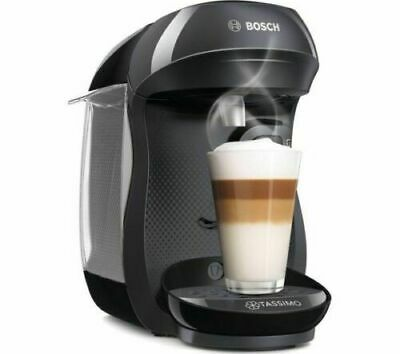 NEW! TASSIMO by Bosch Happy TAS1002GB Coffee Machine - Black - Currys