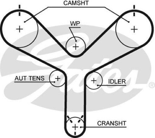 Gates OE Quality Engine Cam Camshaft Timing Belt
