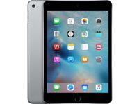Apple iPad Mini 4 WiFi Cellular 64GB Space Grey, unlocked, any network, with keyboard case