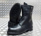 Buckle Black Military Boots for Men