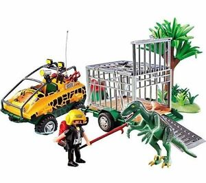 playmobil vehicule amphibie avec deinonychus ref 4175 ebay. Black Bedroom Furniture Sets. Home Design Ideas