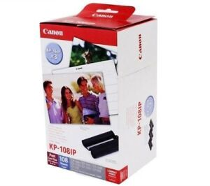 Canon Selphy KP-108IP 4x6 photo printer ink/paper refills