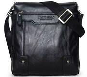 Mens Black Leather Satchel