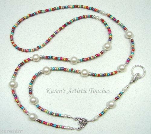 Id Card Beads: Beaded Lanyard Swarovski