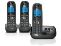 GIGASET AL415A Cordless Phone with Answering Machine - Triple Handsets / NEW