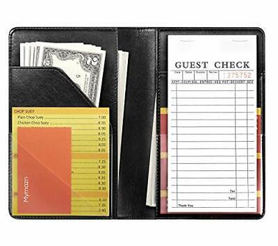 Restaurant Guest Check Book Holder Money Server Apron Black 5 X 7.5 Waitress