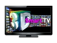 Panasonic 43 inch smart viera Ultra Slim 3D TV with Freeview HD