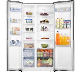 LOGIK LSBSX16 American Fridge Freezer A+ Frost free/ Silver Brand New