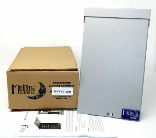 NEW MidNite Solar MNPV6-250 Solar Array 3 String 300V Combiner Box Aluminum