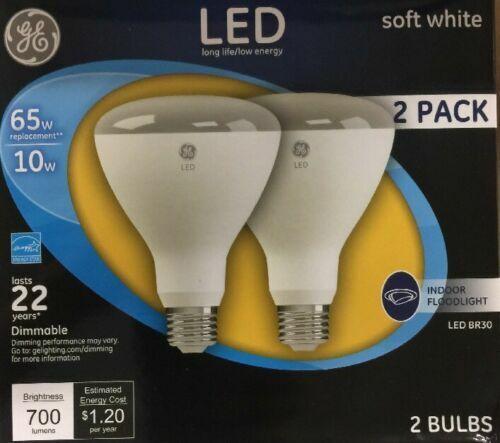 2 GE 21907 Dimmable LED Soft White Light Bulb 10-Watt 65 W I