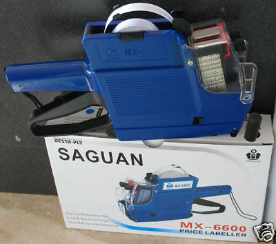 Mx-6600 Saguan 10 Digits 2 Two Lines Price Tag Gun 1 Ink