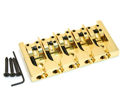 (Hipshot Gold/Brass 5-string A Series Bass Bridge .708