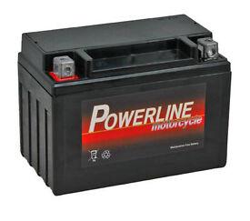 Powerline Motorcycle Battery 12V 9Ah - YTX9-BS - Unused