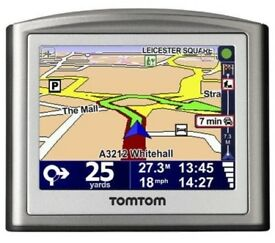 "TomTom One v3 - 3.5"" Sat Nav with UK and Euro Maps complete with all accessories/box is tatty"